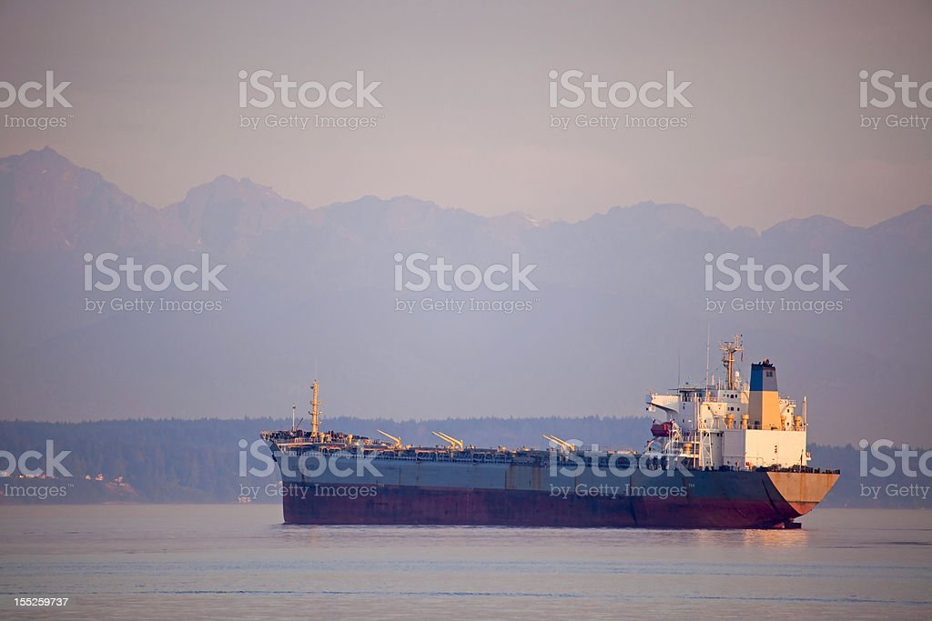 Freighter Hills royalty-free stock photo