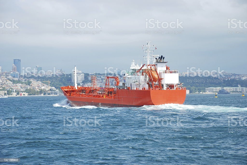 Freighter royalty-free stock photo