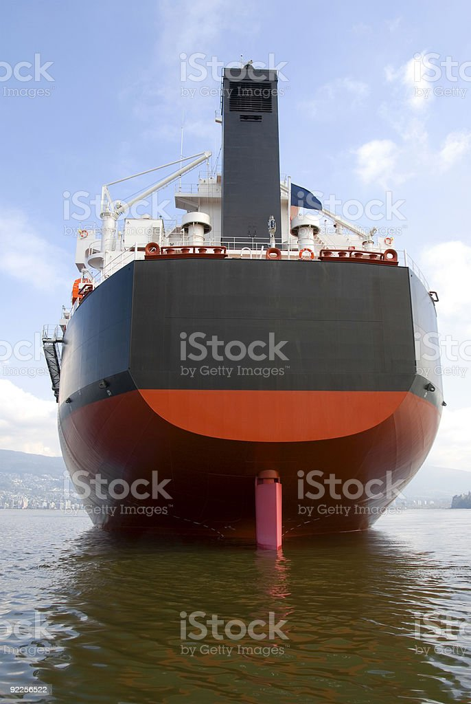 Freighter Rudder royalty-free stock photo
