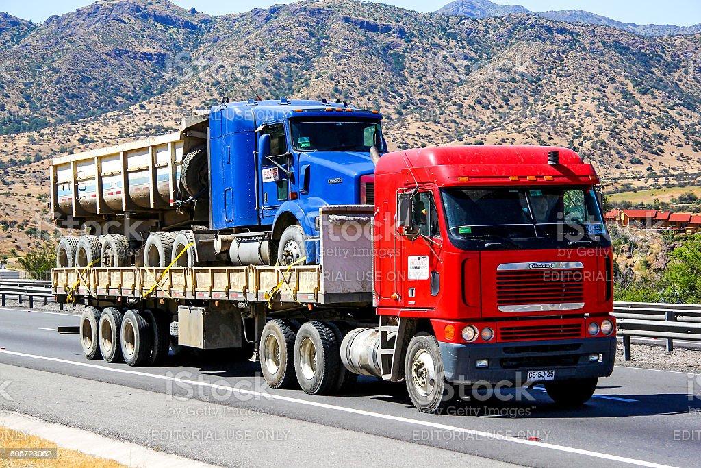 Freightliner Argosy stock photo