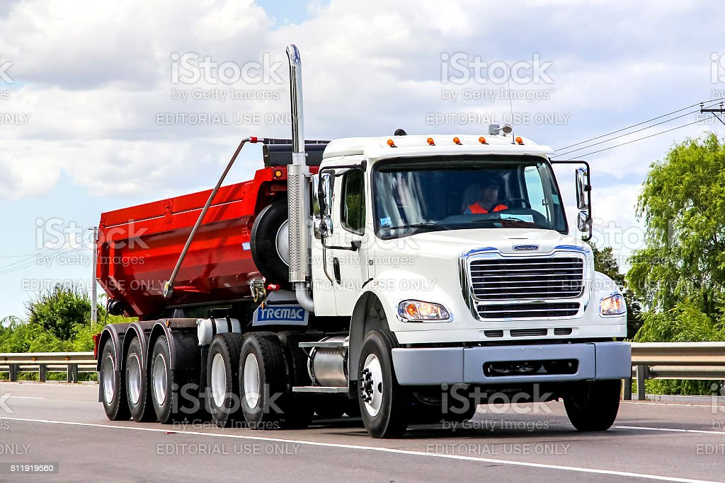 Freightliner Business Class stock photo