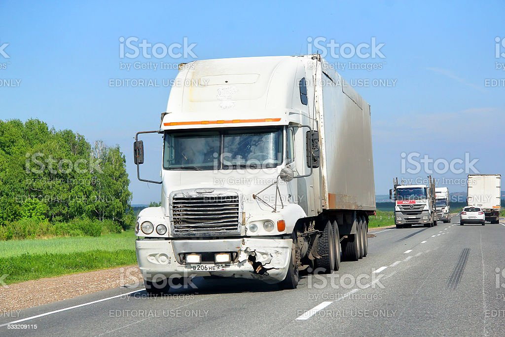 Freightliner Century Class stock photo