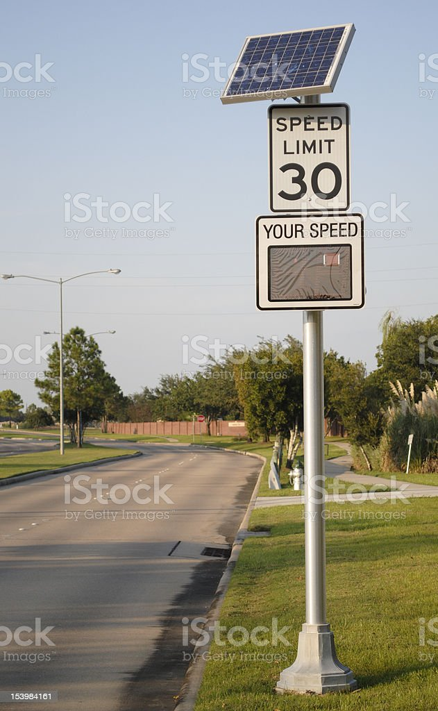 Freindly reminder about speed limit royalty-free stock photo