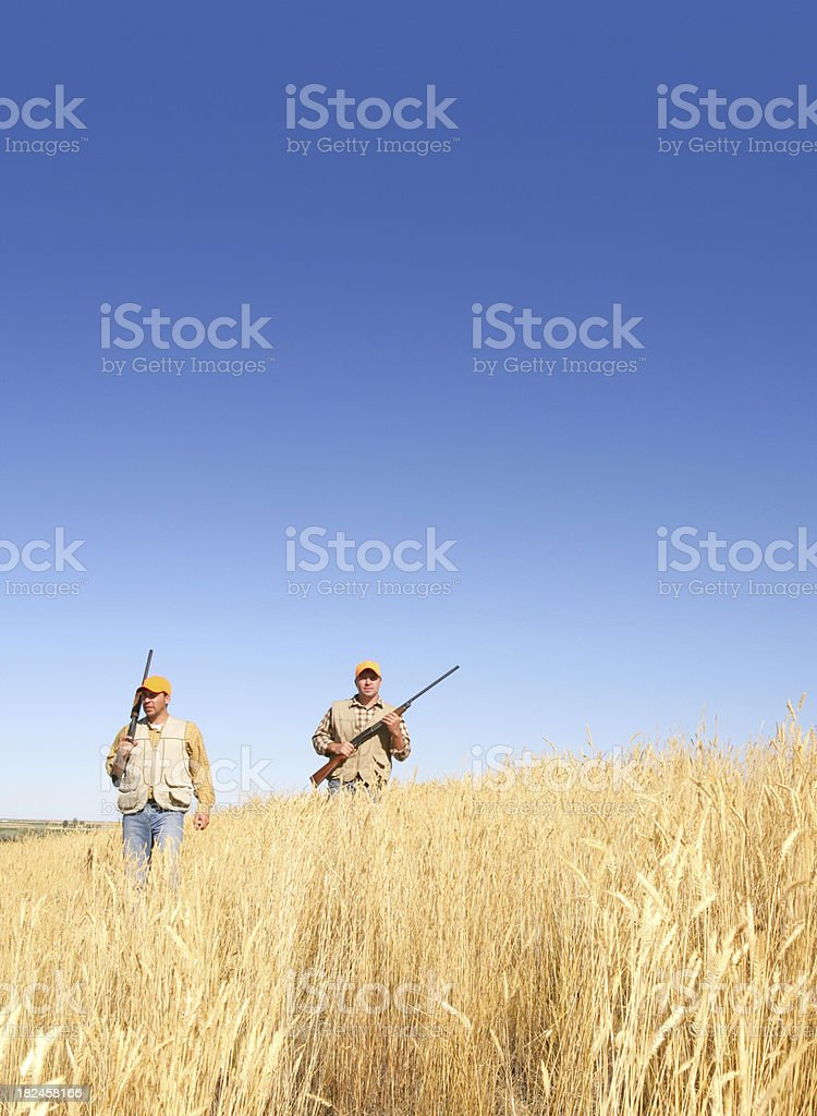 freinds hunting royalty-free stock photo
