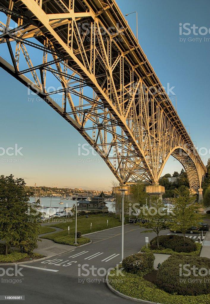 Fremont Bridge stock photo