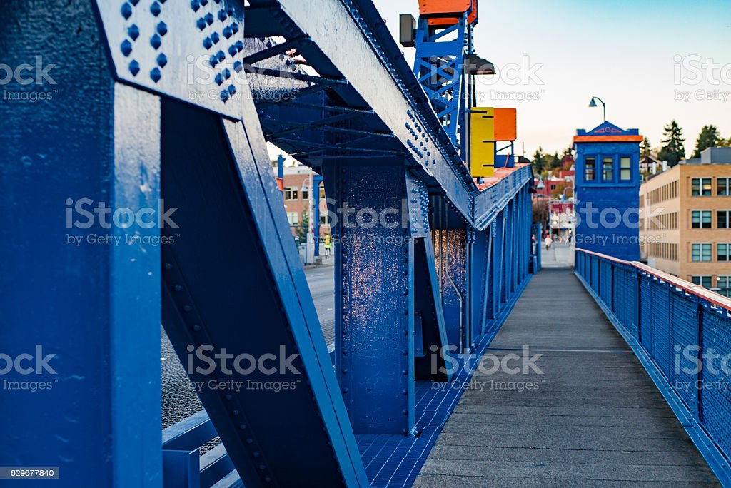 Fremont Bridge Seattle Washington stock photo