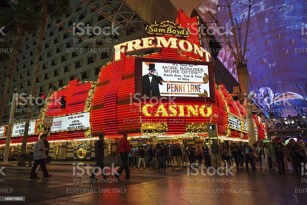 Fremont Casino Downtown Vegas stock photo