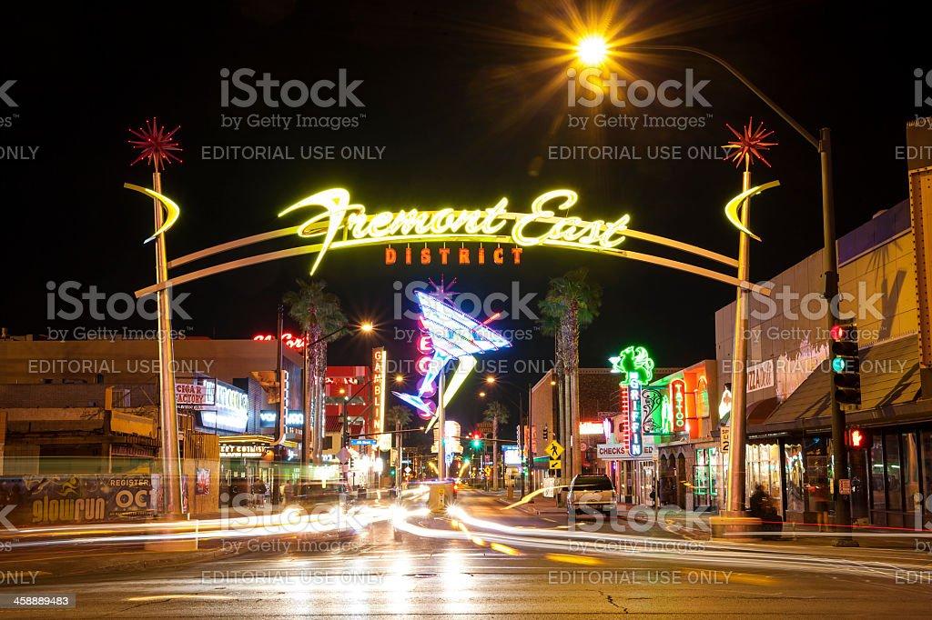 Fremont East District, Las Vegas, USA stock photo