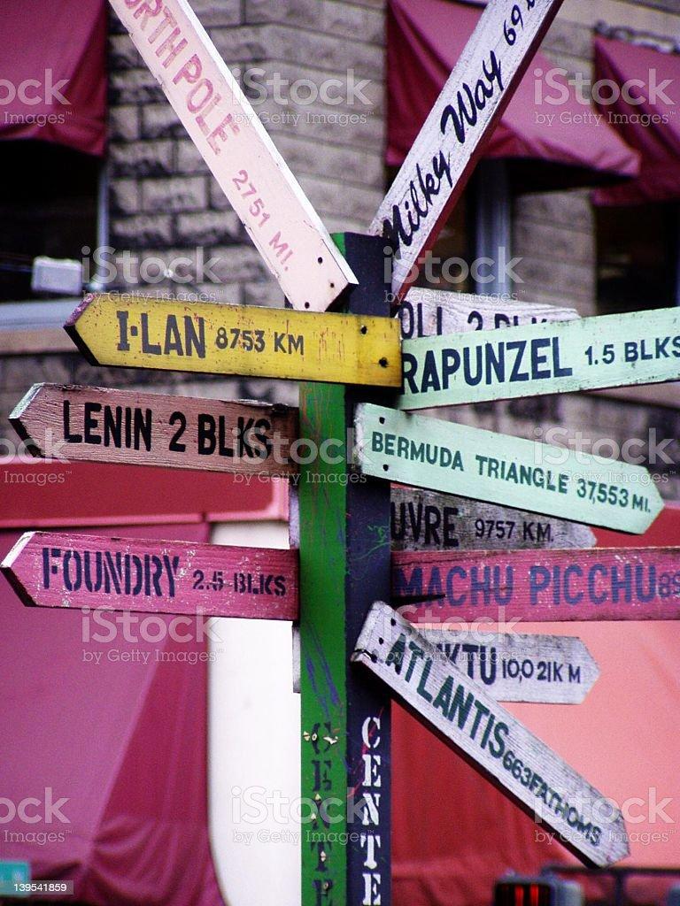 Fremont Signpost royalty-free stock photo