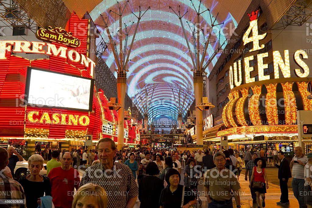 Fremont Street at Night stock photo