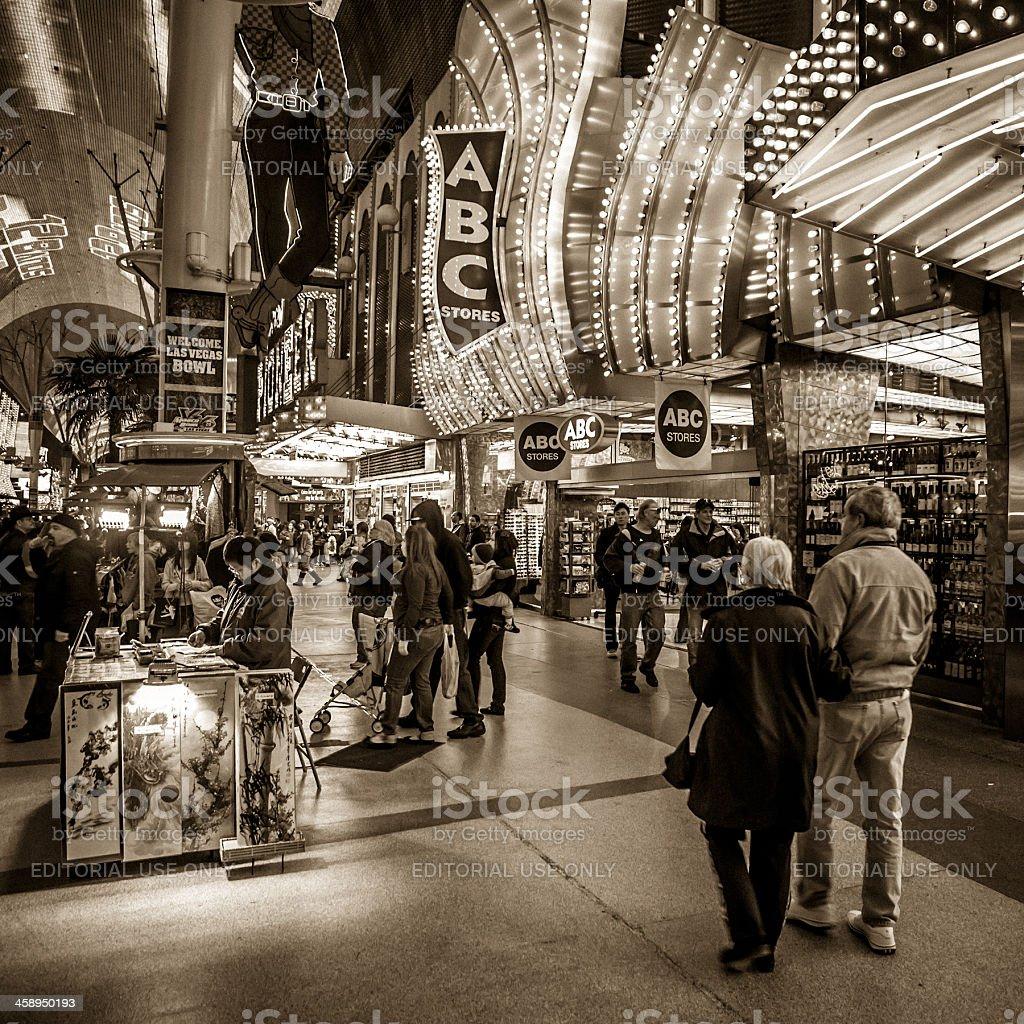 Fremont Street Las Vegas royalty-free stock photo
