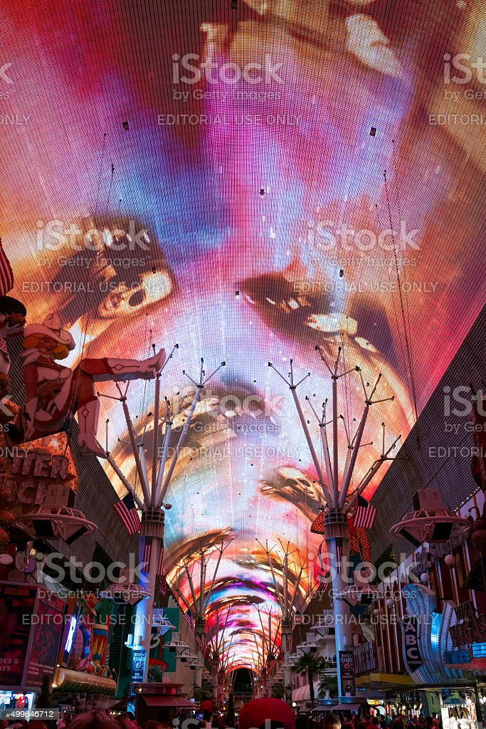 Fremont Street Las Vegas stock photo
