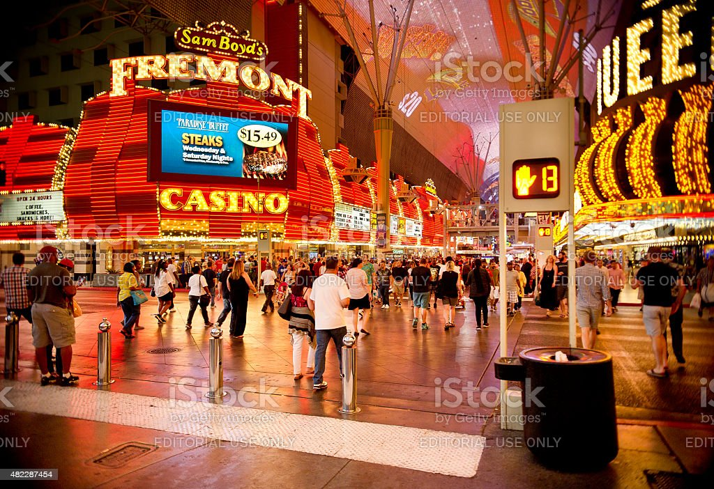 Fremont Street on Independence Day 2015 stock photo