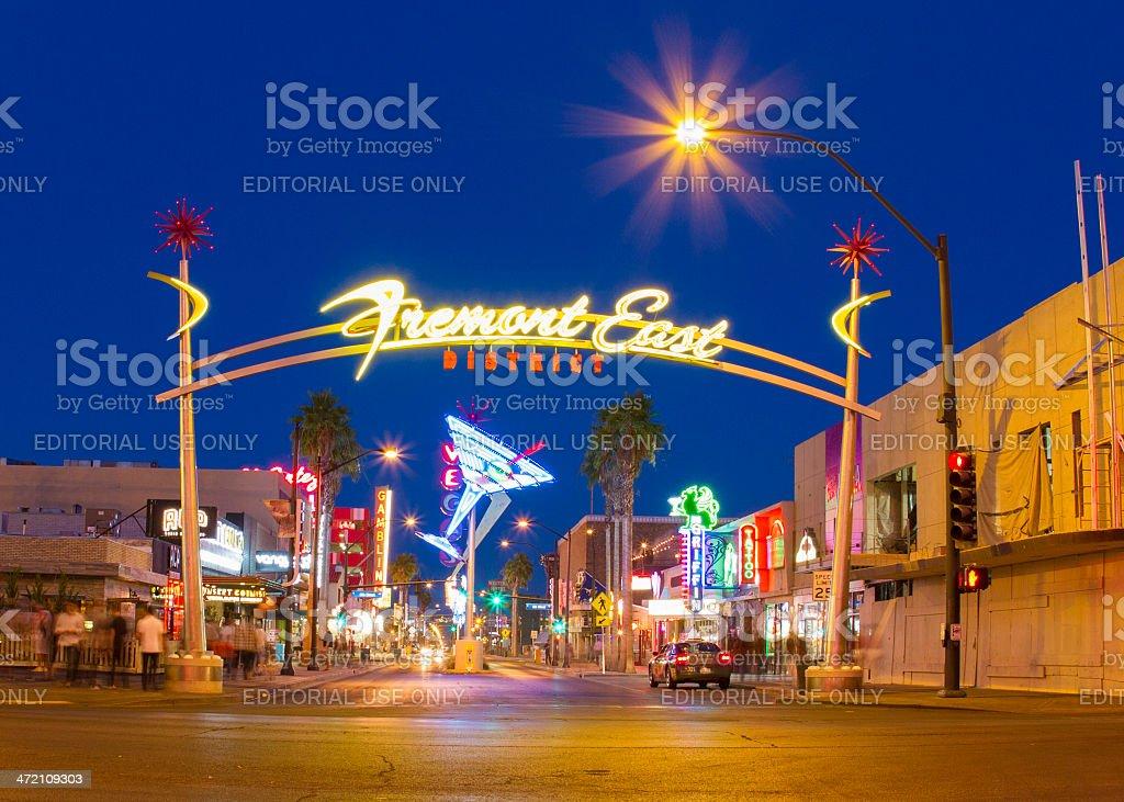Fremont Street stock photo