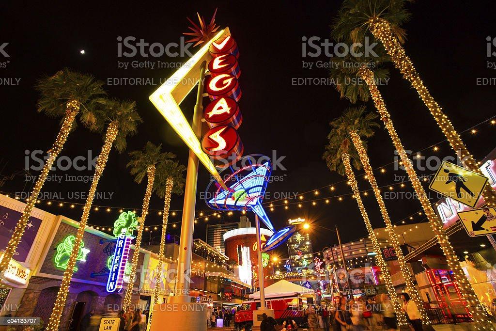 Fremont Street Vegas stock photo