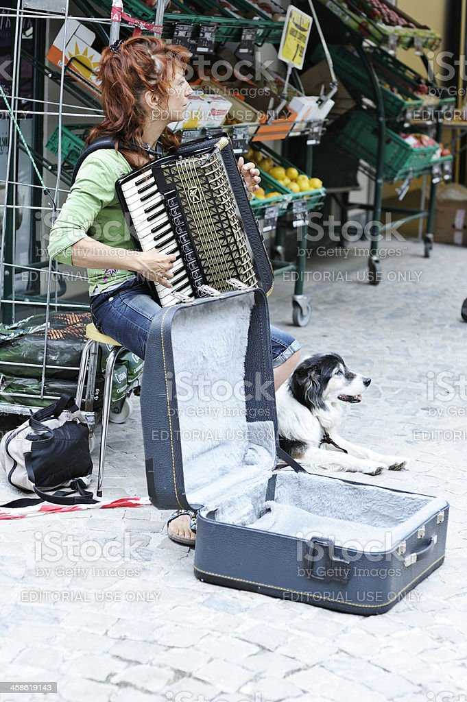 French accordion player stock photo