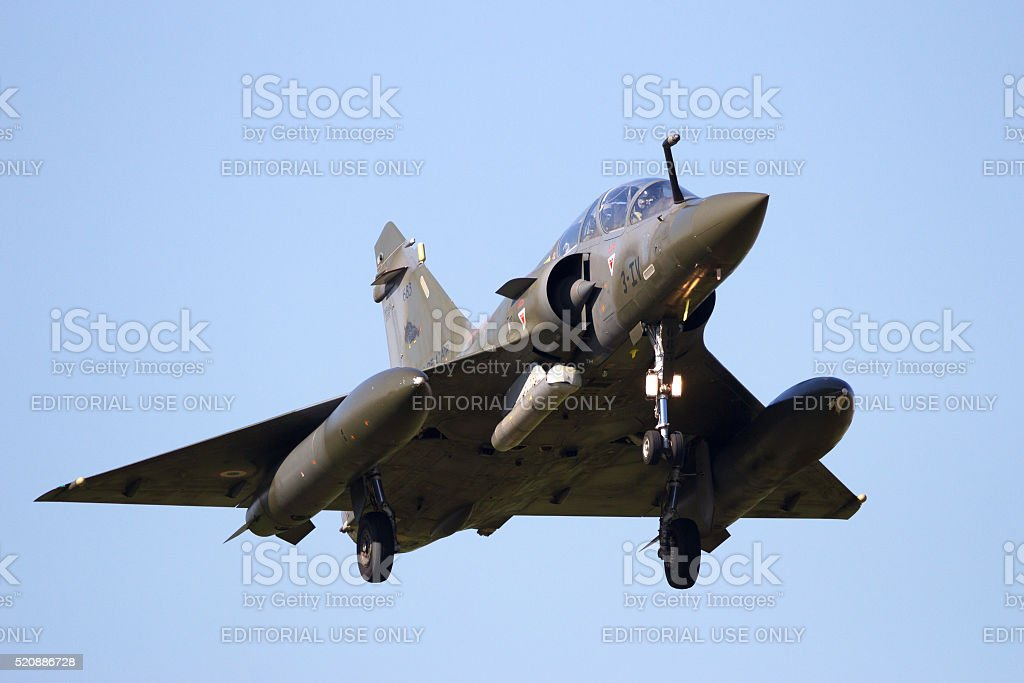 French Air Force Mirage 2000 stock photo