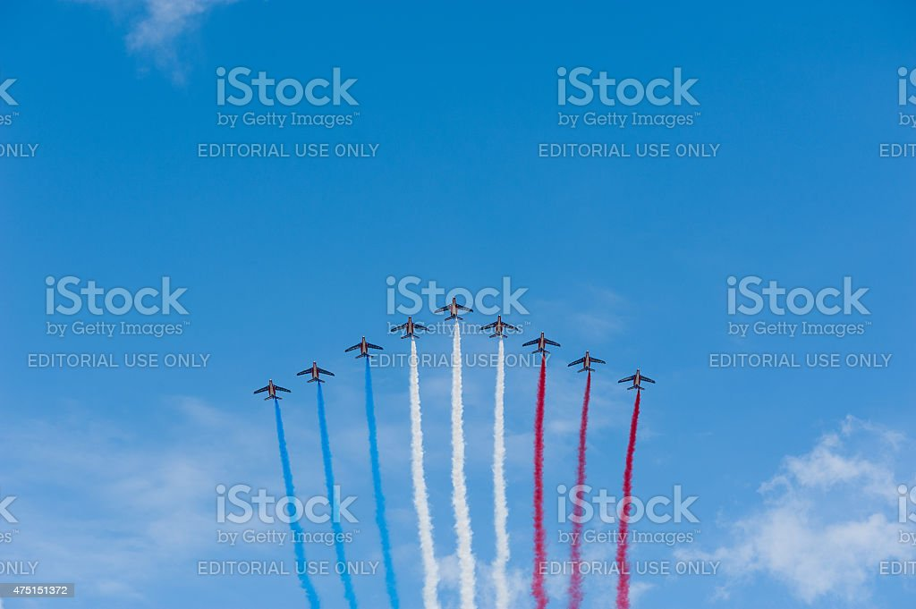 French air patrol - National Day stock photo