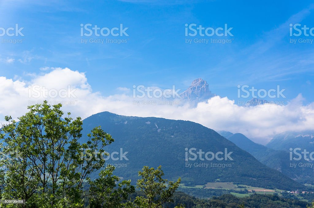 French alpes view stock photo