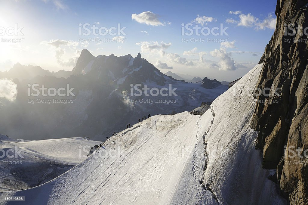 French Alps in summer royalty-free stock photo