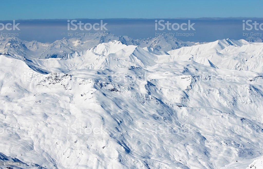 French Alps in winter stock photo