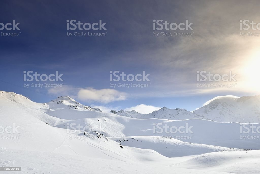 French Alps Landscape royalty-free stock photo