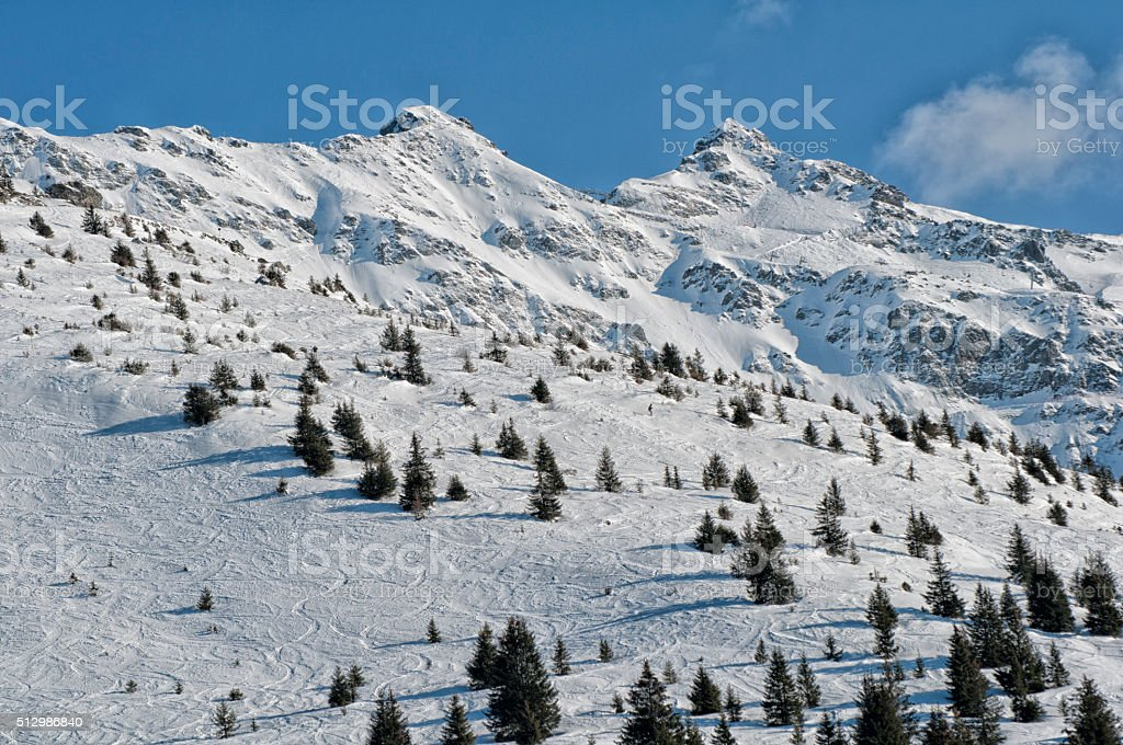 French Alps landscape stock photo