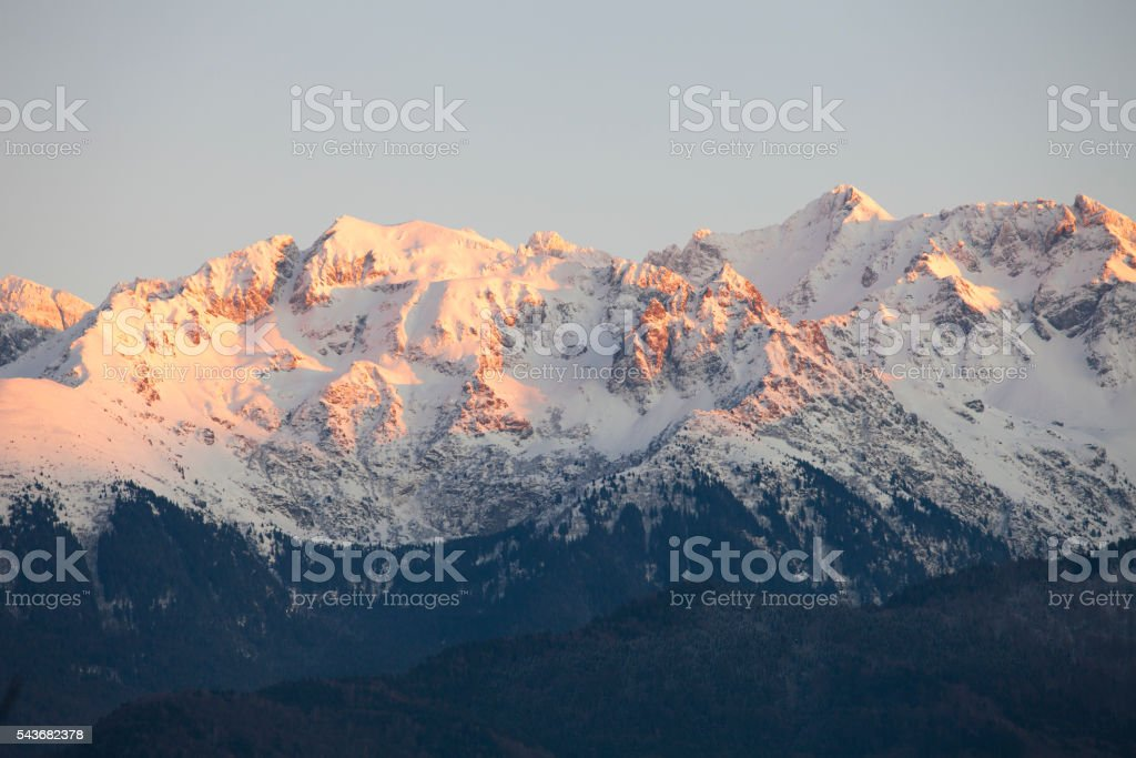 French Alps mountains stock photo