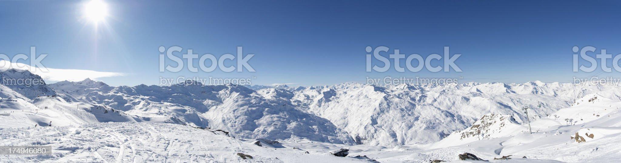 French Alps Panorama XXXL royalty-free stock photo