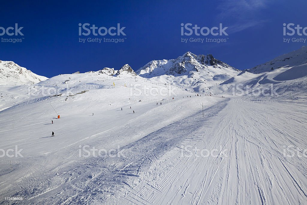 French Alps, piste royalty-free stock photo
