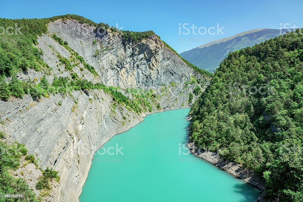 French Alps River Ebron stock photo
