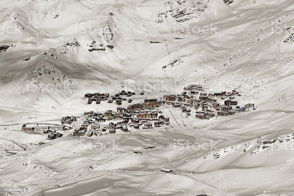 French Alps, Val Thorens royalty-free stock photo
