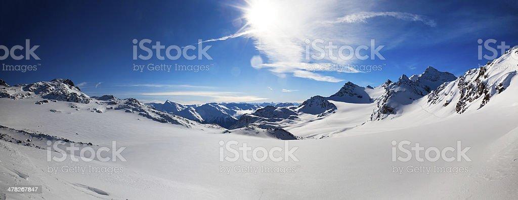 French Alps, Val Thorens stock photo
