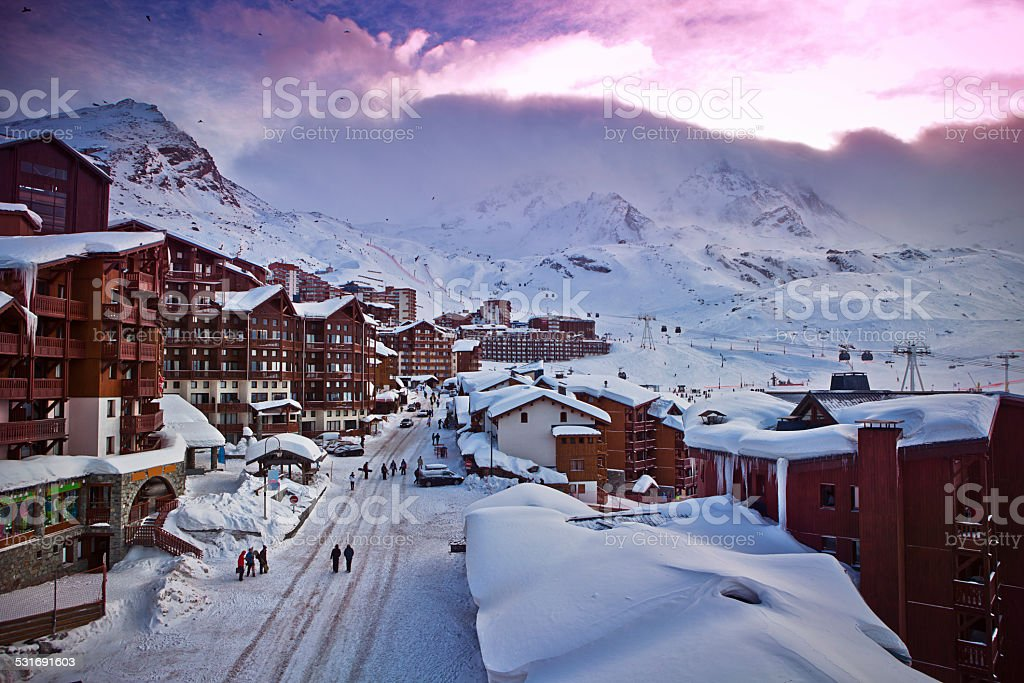 French Alps, Val Thorens stock photo
