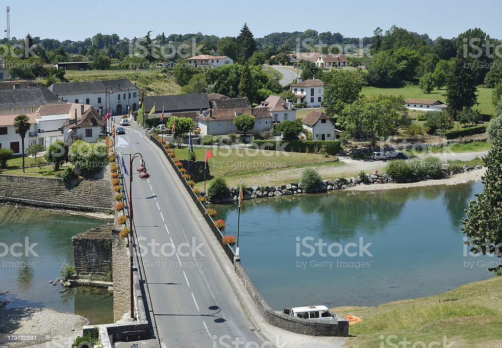 French ancient town Navarrenx stock photo