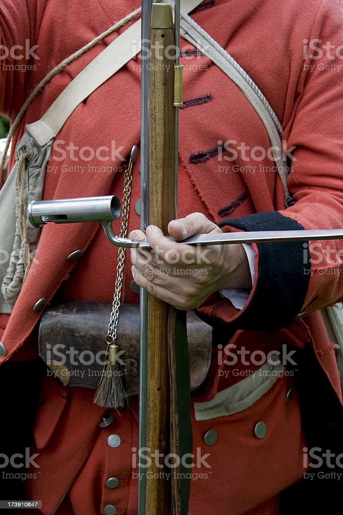 French and Indian War Reenactor royalty-free stock photo