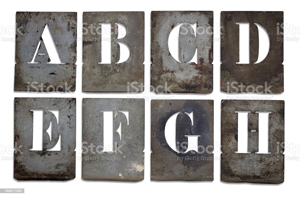 French antique metal stencils. royalty-free stock photo