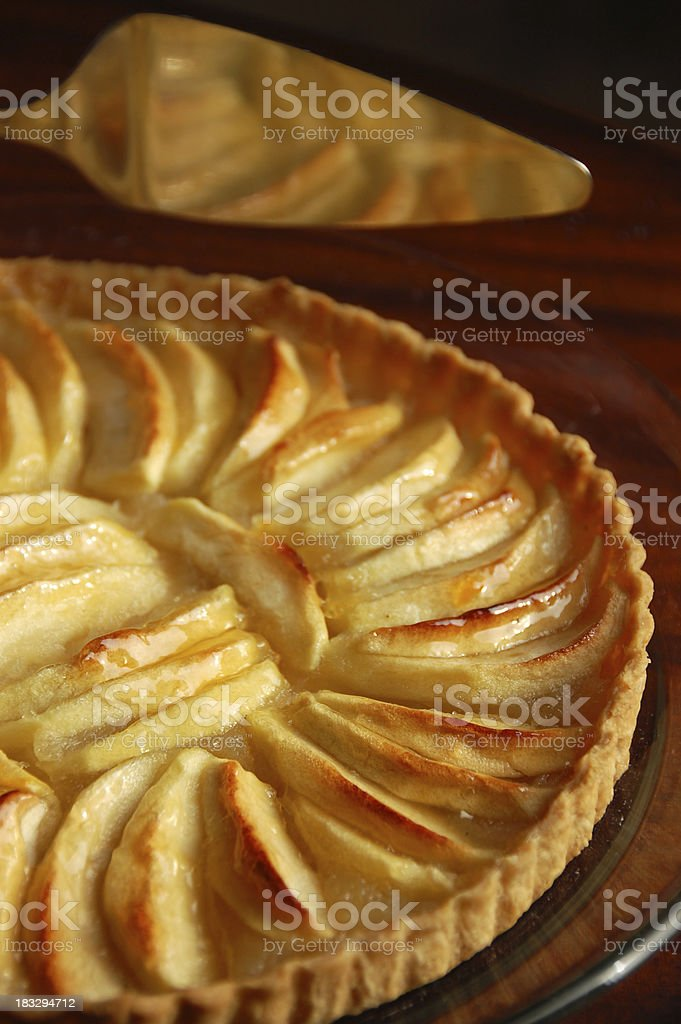 French Apple Tart royalty-free stock photo
