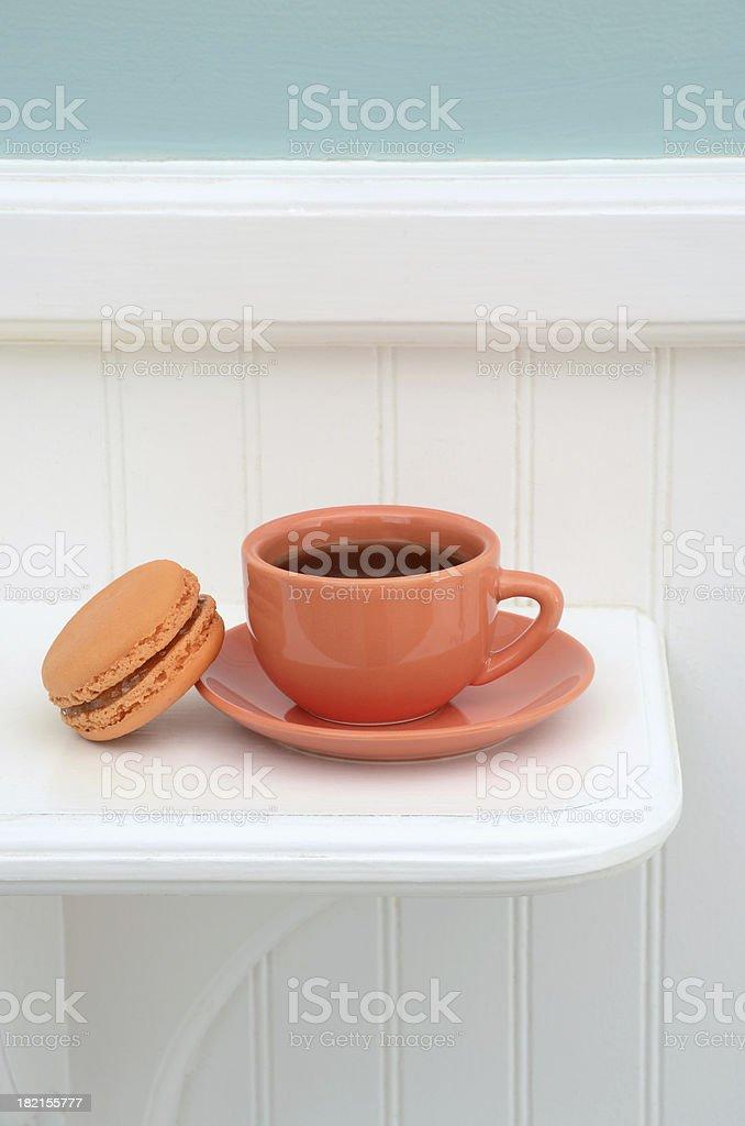 French Apricot Macaron royalty-free stock photo
