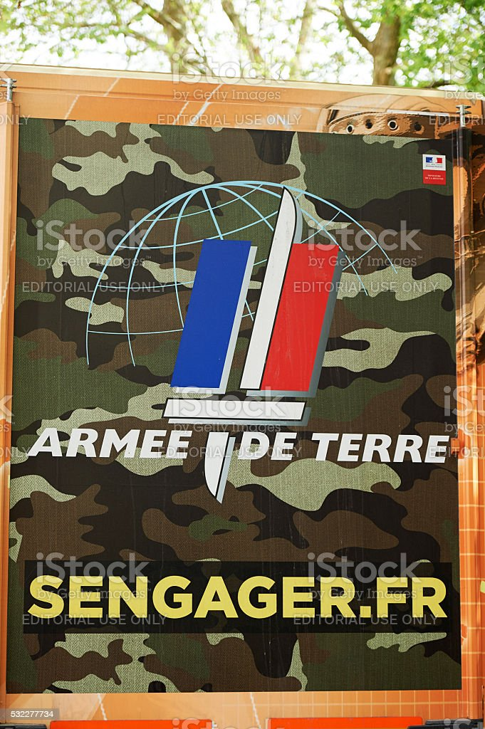 French Army recuriting truck stock photo