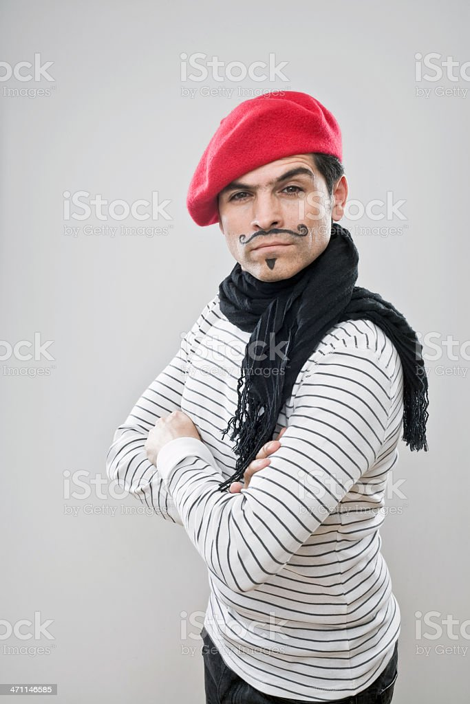 French Attitude stock photo
