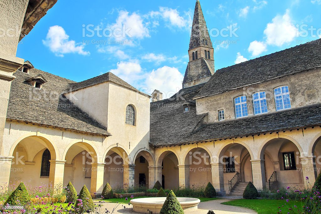 French Augustinian Convent building of Cremieu in Isere Rhone-Alpes stock photo