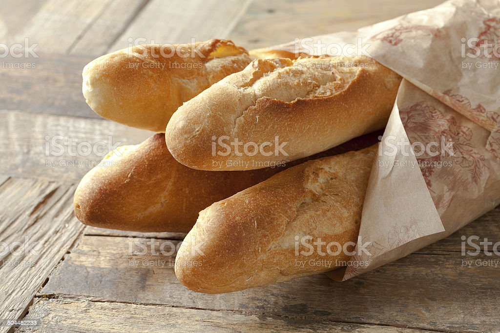 French baguettes stock photo