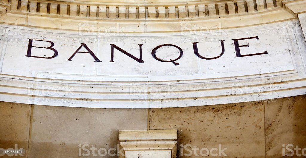French Bank stock photo