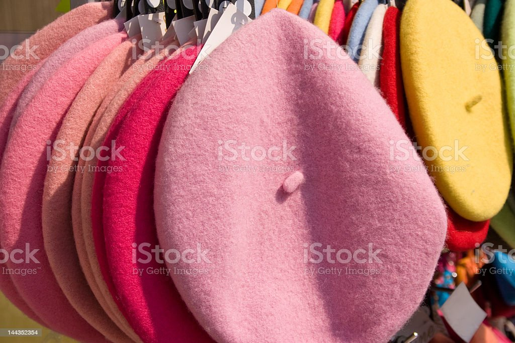 French Berets stock photo