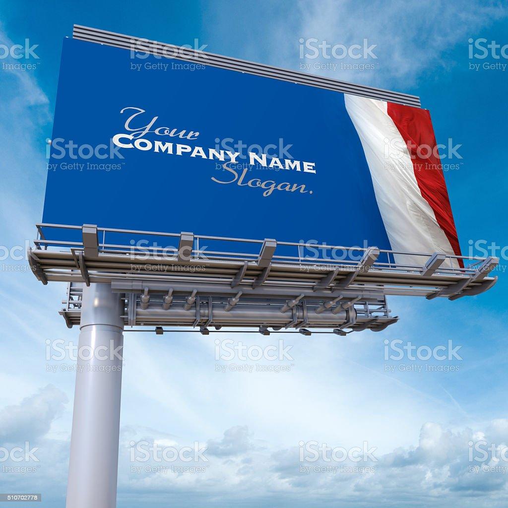 French billboard stock photo