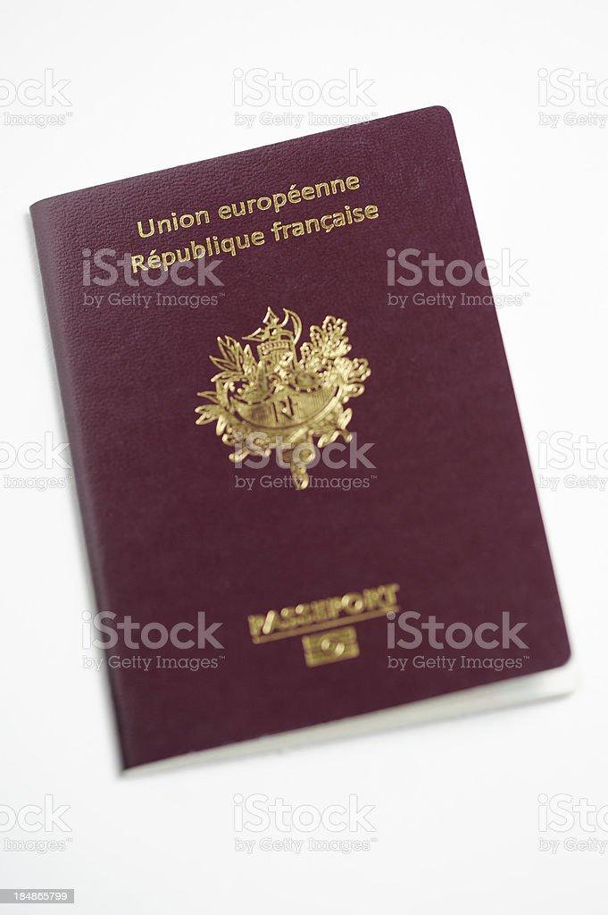 French Biometric Passport stock photo