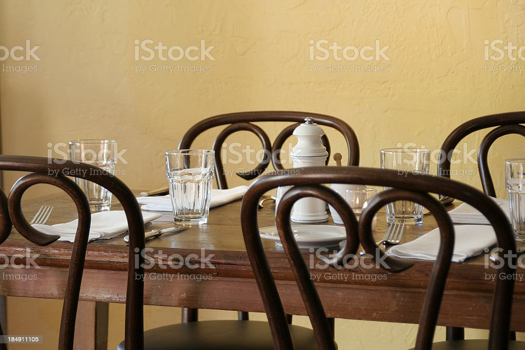 French Bistro Table royalty-free stock photo