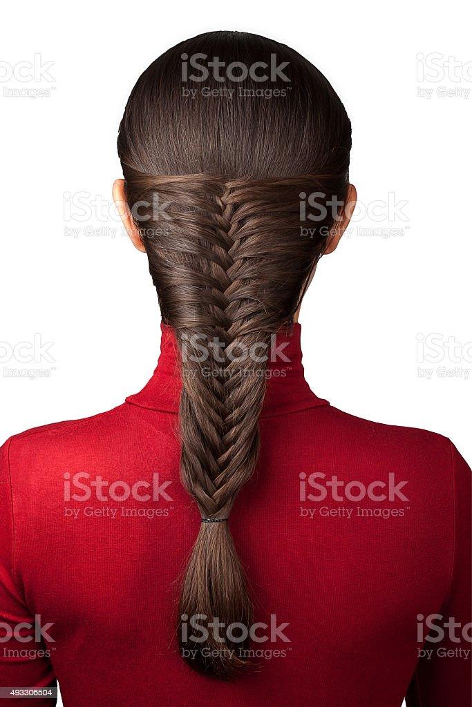 French braid isolate stock photo