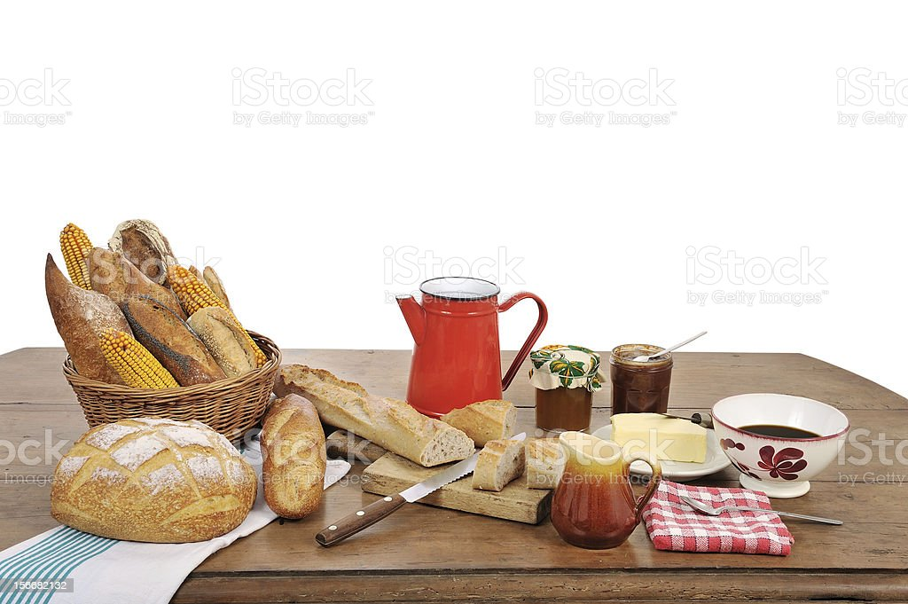 french breakfast three stock photo